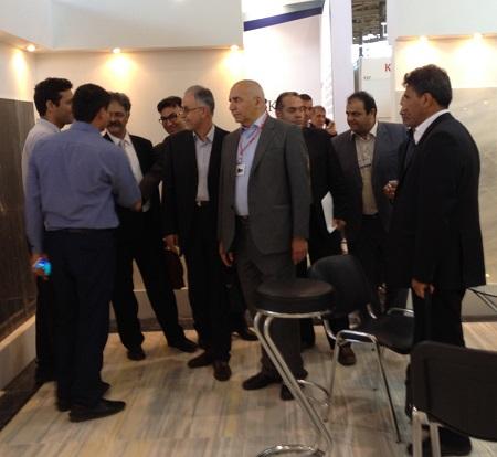 افتتاح پاویون با حضور دکتر سرقینی، مهدی سنایی و احمد شریفی بعدازظهر نخستین روز نمایشگاه برگزار گردید